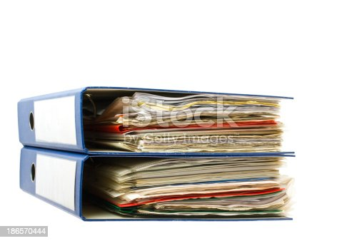 502086873 istock photo Stack of folders. Pile with old documents and bills 186570444