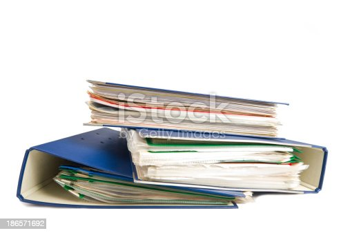 502086873 istock photo Stack of folders. Pile with old documents and bills 186571692