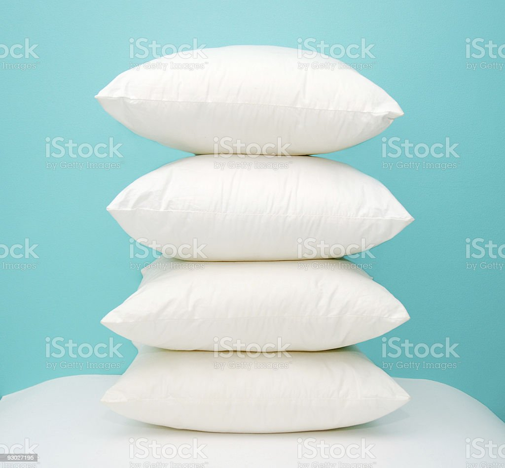 stack of four pillows royalty-free stock photo