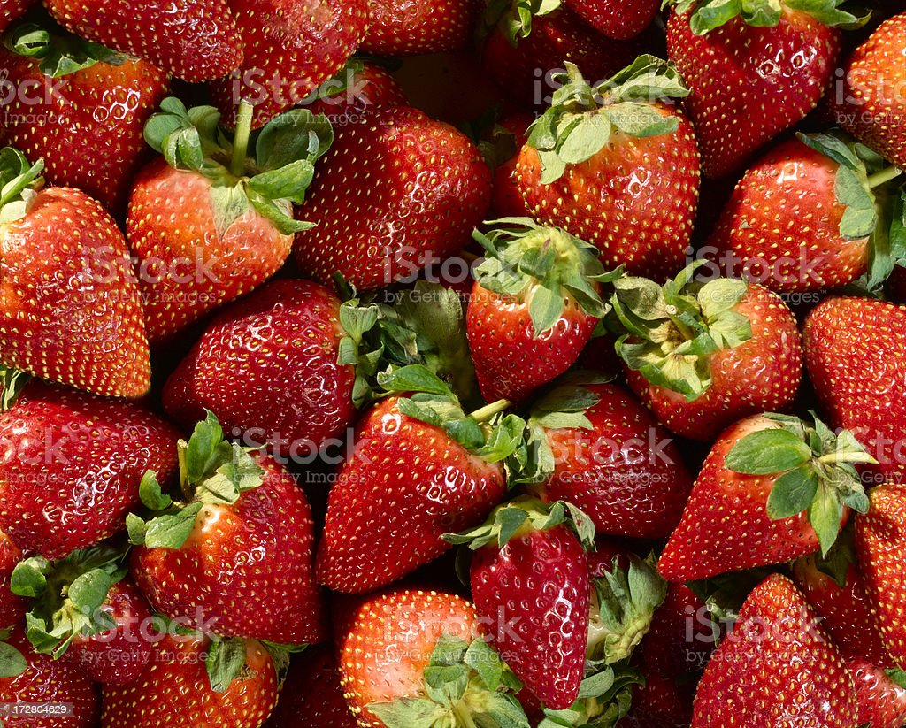 Stack of fresh and ripe red strawberries. royalty-free stock photo