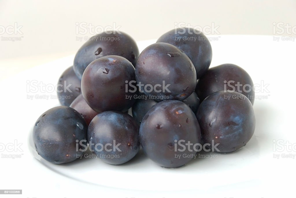 Stack of fresh plums 4 royalty-free stock photo