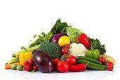 新鮮な野菜のスタック