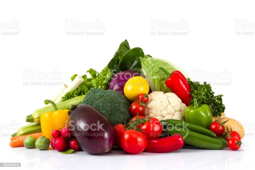 Stack of Fresh Vegetables stock photo