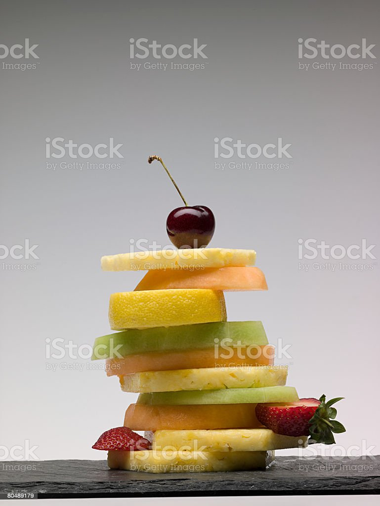 Stack of fruit slices royalty-free stock photo