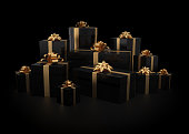 istock Stack of gift boxes 492042388