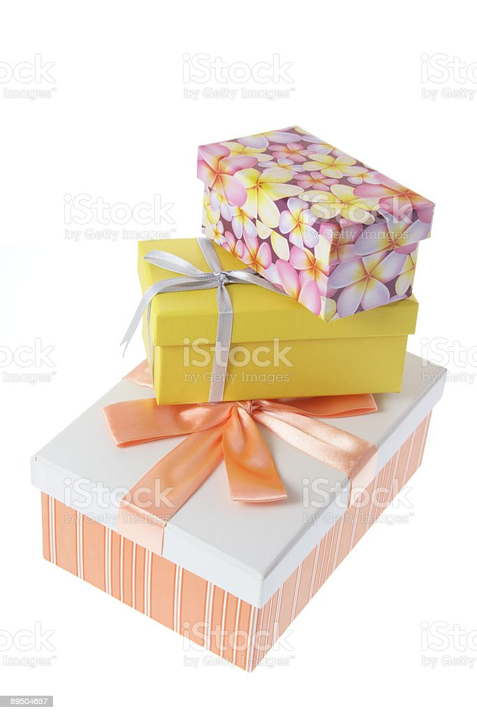 Stack of Gift  Parcels royalty-free stock photo