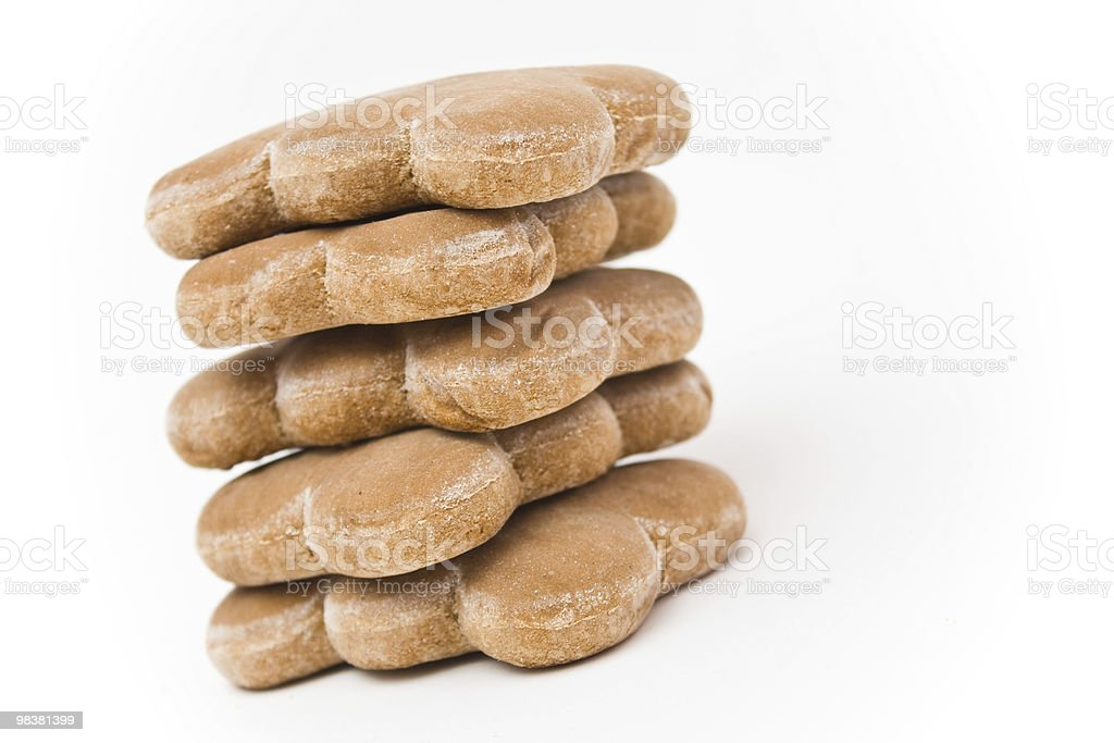 Stack of gingerbread cookies royalty-free stock photo
