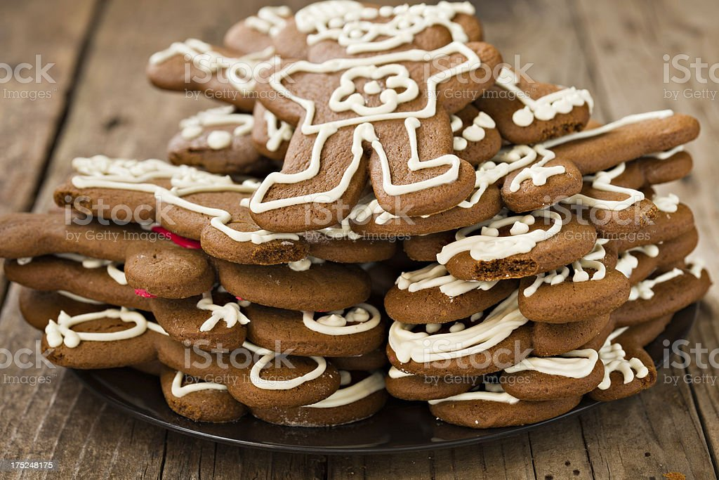 Stack Of Gingerbread Men Cookies royalty-free stock photo