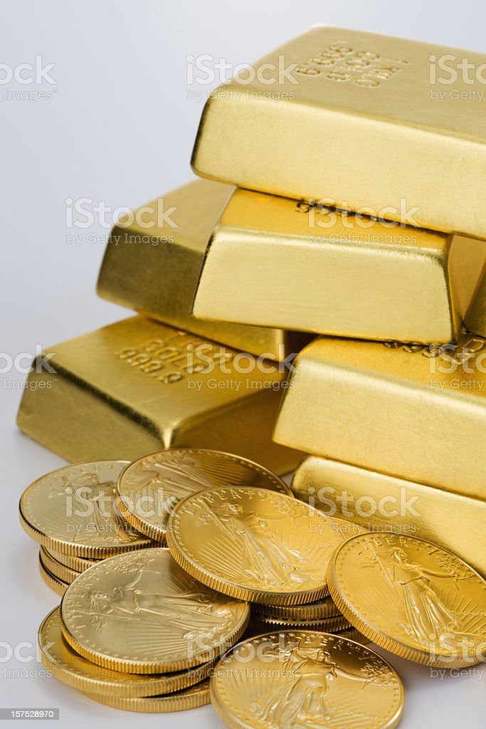 Stack of Gold Bars. royalty-free stock photo