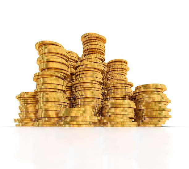 Ein Haufen gold Münzen. – Foto