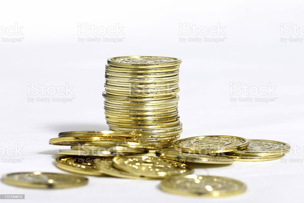 Stack of gold royalty-free stock photo