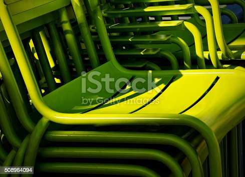 istock Stack of Green Chairs Statium, Auditorium Seating 508964094