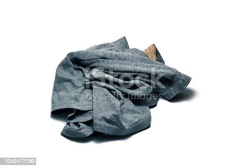 1164403364 istock photo stack of grey cotton boxer panty on white background isolated 1045477190