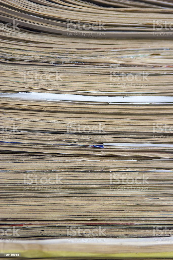 Stack Of Grunge Papers royalty-free stock photo