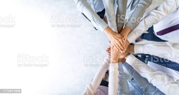 Stack Of Hands Unity And Teamwork Concept Stock Photo - Download Image Now