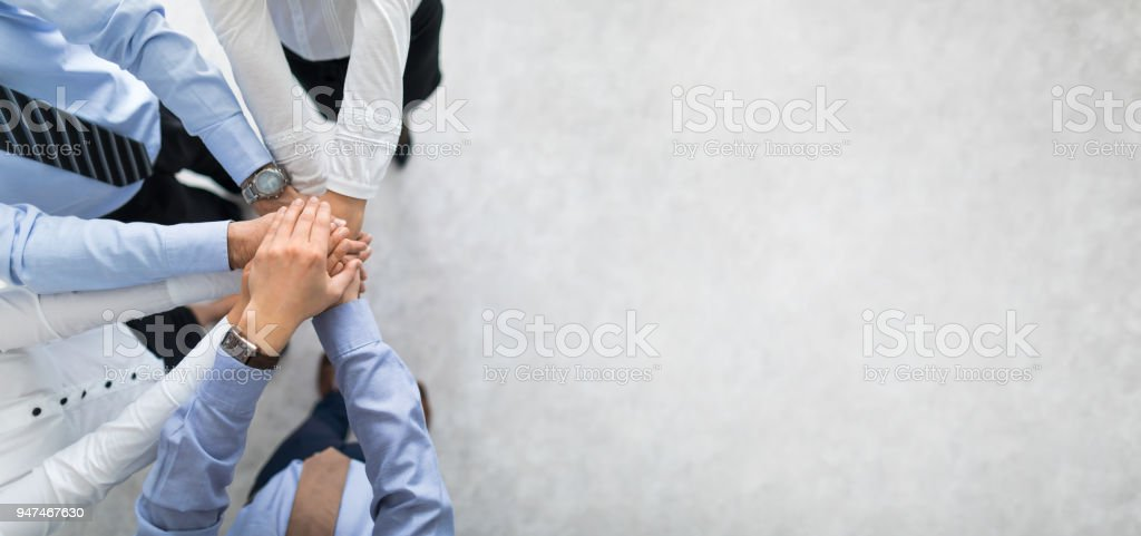 Stack of hands. Unity and teamwork concept. - Royalty-free Agreement Stock Photo