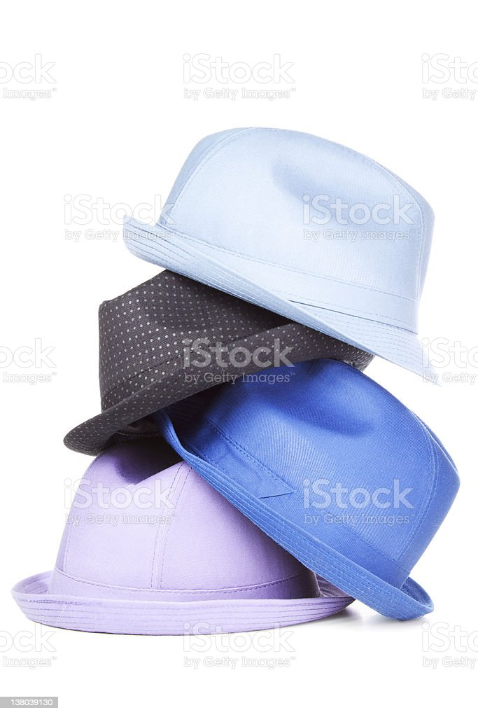 Stack of hats | Isolated stock photo