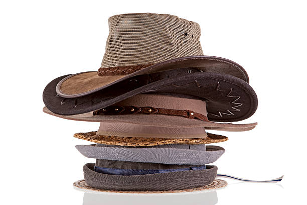 stack of hats stock photo