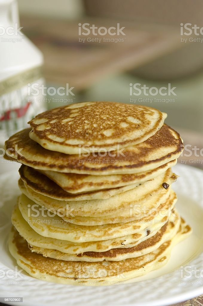 stack of hotcakes royalty-free stock photo