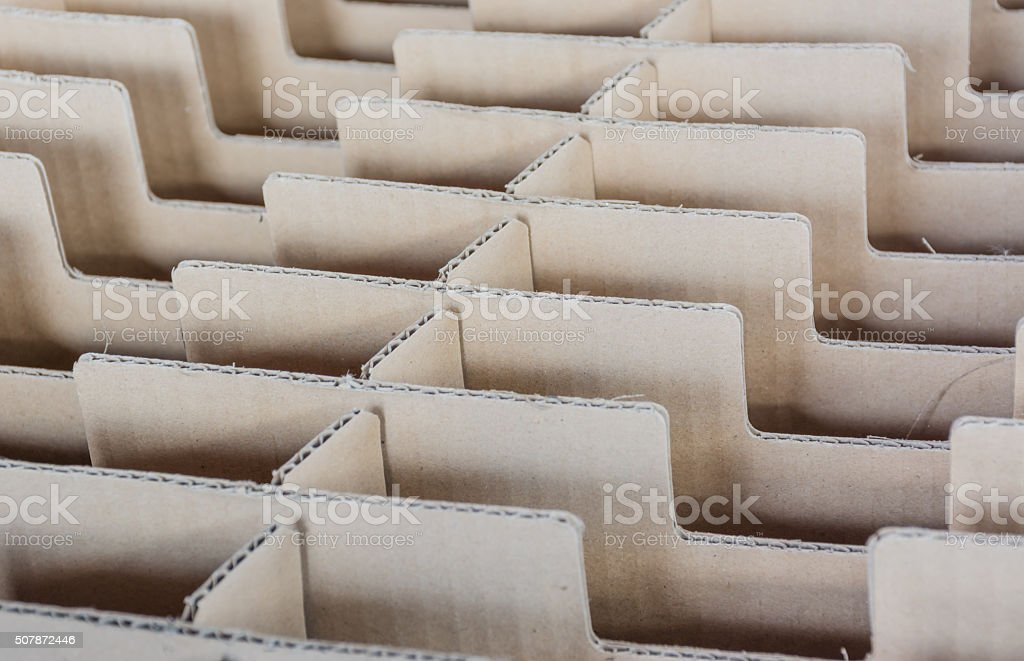 Stack of industrial carton paper