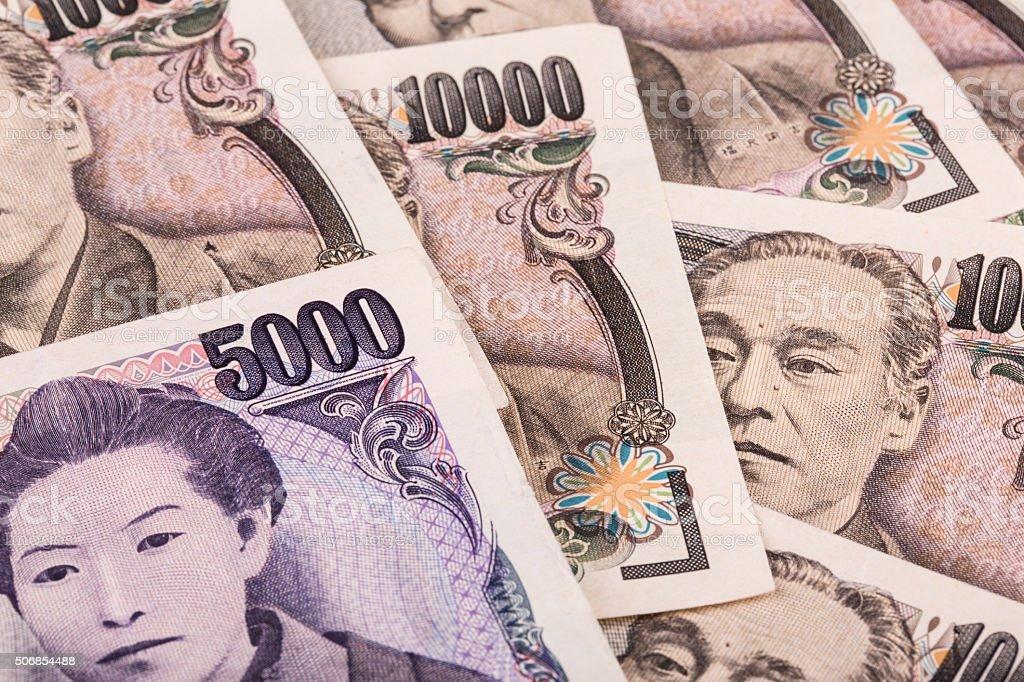 Pila Di Valuta Giapponese Yen Giapponese Banconote O