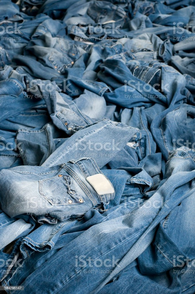 Stack Of Jeans royalty-free stock photo