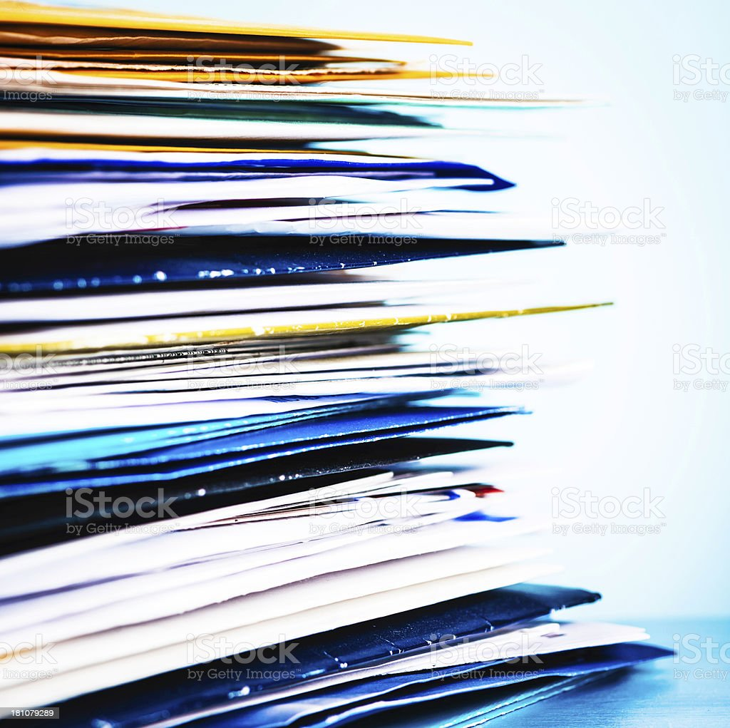 Stack of Junk Mail royalty-free stock photo