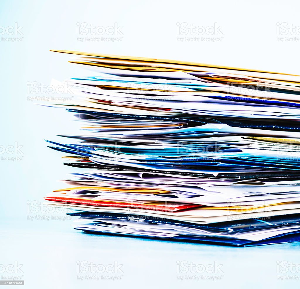 Stack of Junk Mail stock photo