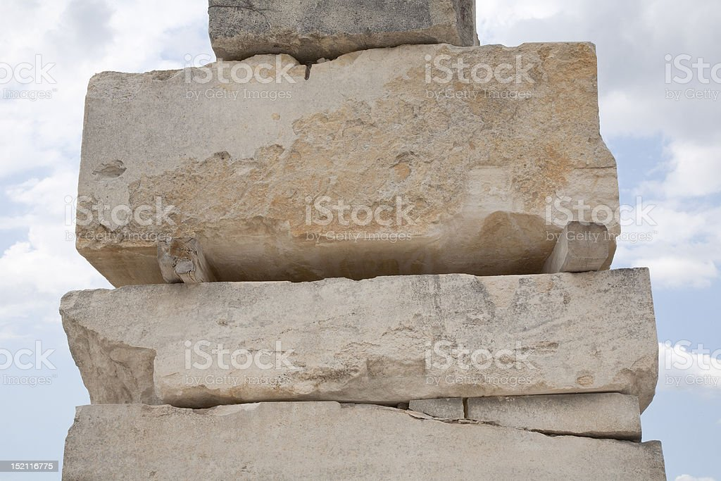 Stack of Limestone Blocks stock photo