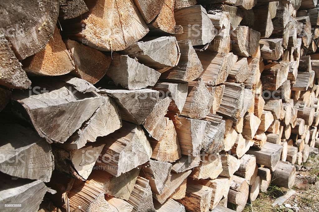 Stack of logs royalty-free stock photo