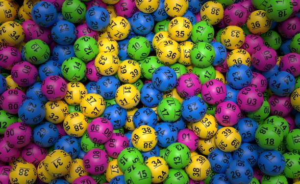 Stack of lottery balls Stack of lottery balls. 3d illustration lottery stock pictures, royalty-free photos & images