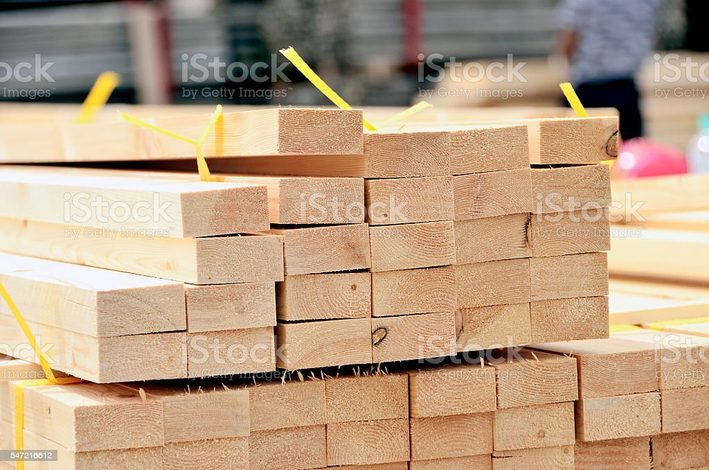 stack of lumber stock photo