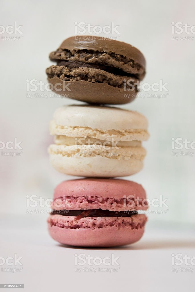 Stack of Macarons stock photo