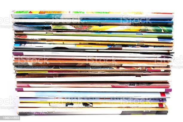 Stack Of Magazines Stock Photo - Download Image Now