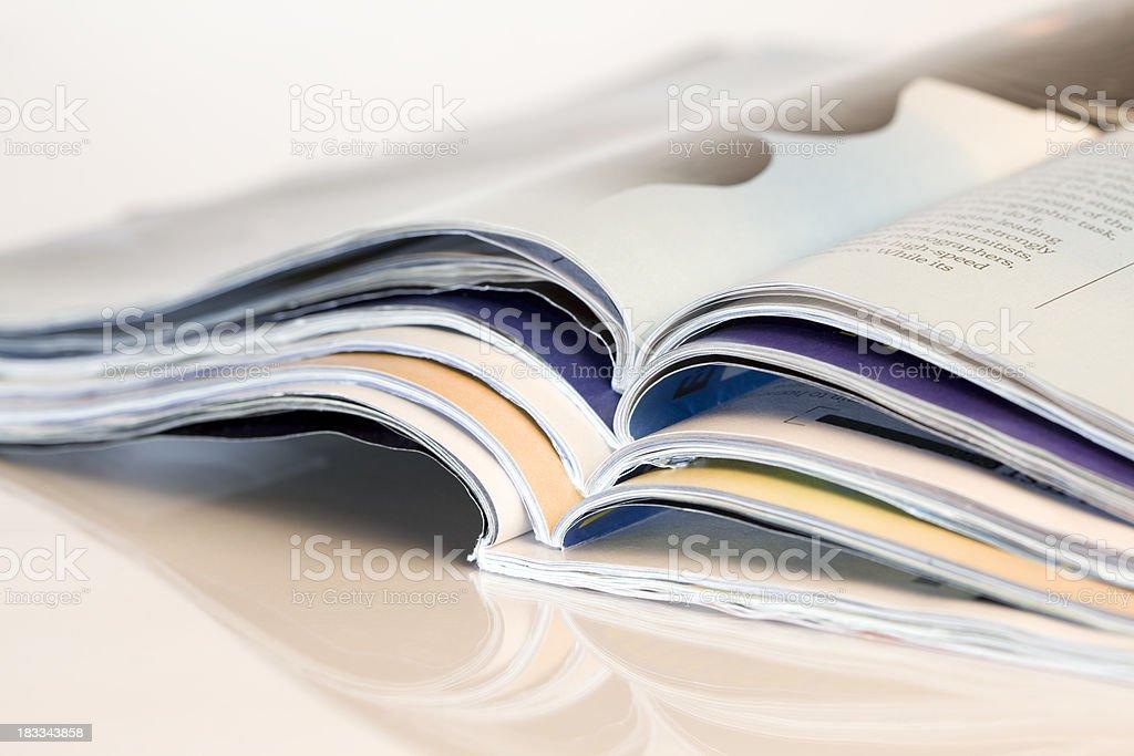 stack of magazines royalty-free stock photo