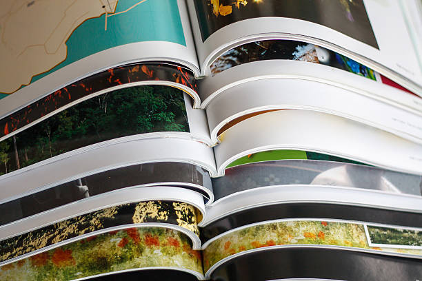 Stack of magazines Stack of magazines catalog stock pictures, royalty-free photos & images