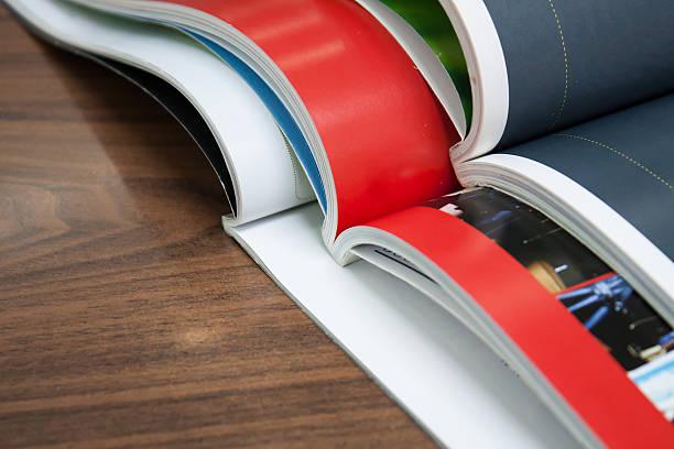 Pila di riviste - foto stock
