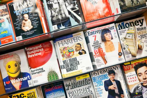 Stack Of Magazines 14 Xxxl Stock Photo - Download Image Now