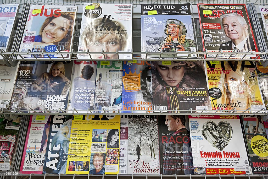 Stack of magazines # 15 XXXL royalty-free stock photo