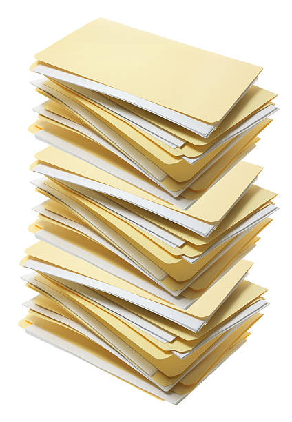 stack of manila file folders - stack rock stock pictures, royalty-free photos & images