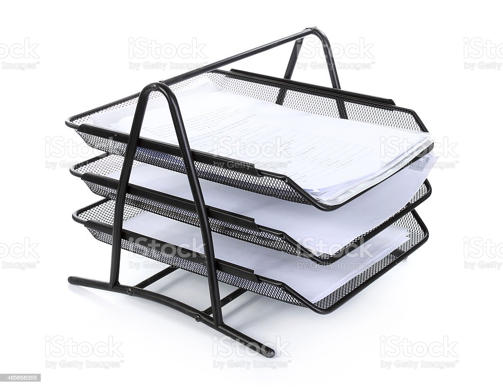 Stack of many old paper royalty-free stock photo