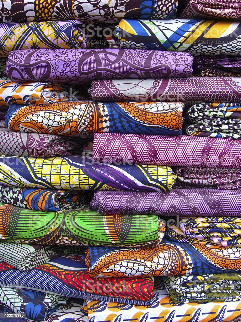 Stack of material in West Africa stock photo