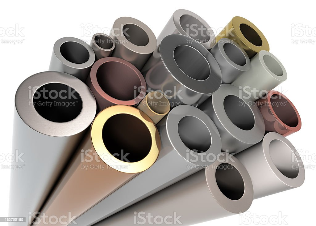 Stack of Metal Tubing royalty-free stock photo