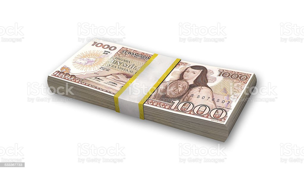 Stack Of Mexican Money 1000 Pesos Bills Stock Photo More Pictures