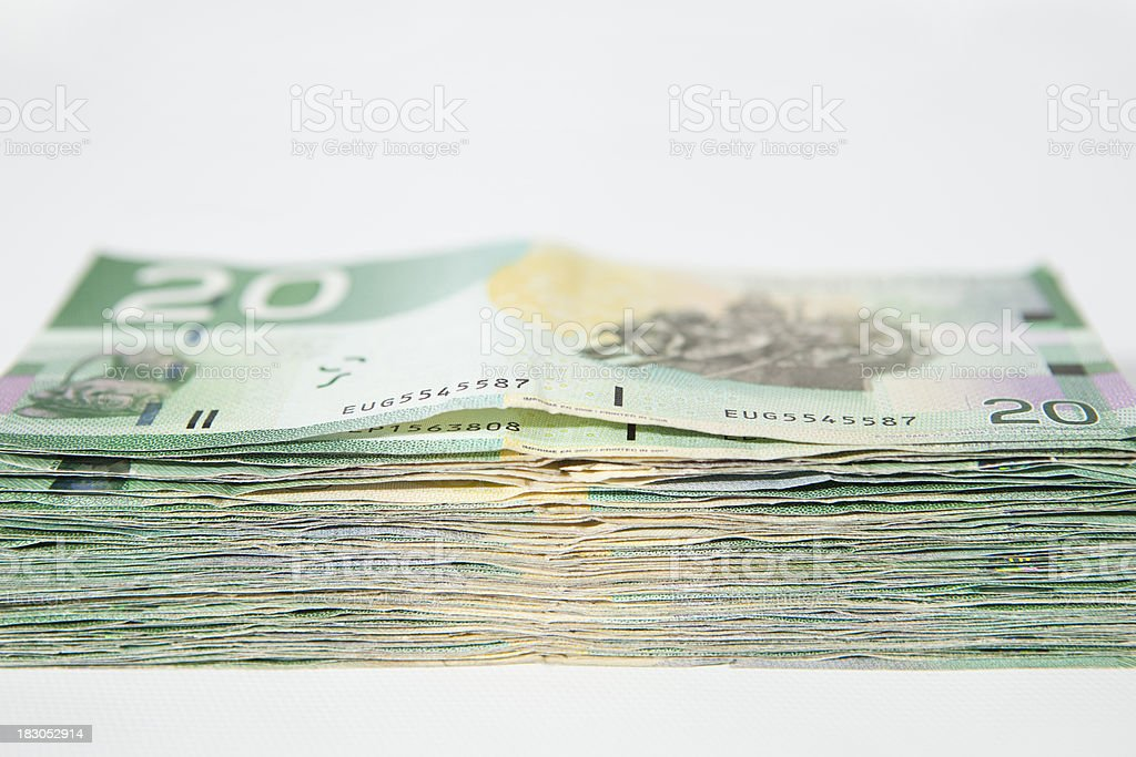 Stack of money. royalty-free stock photo