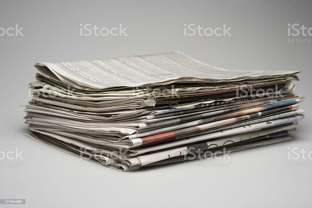 A stack of morning business papers royalty-free stock photo