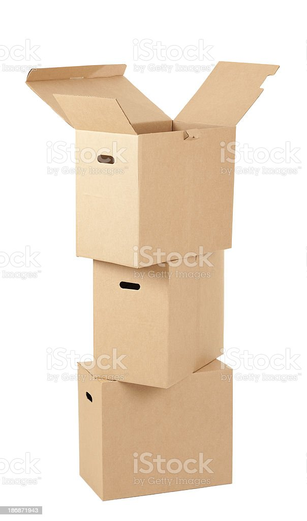 Stack of moving box. royalty-free stock photo