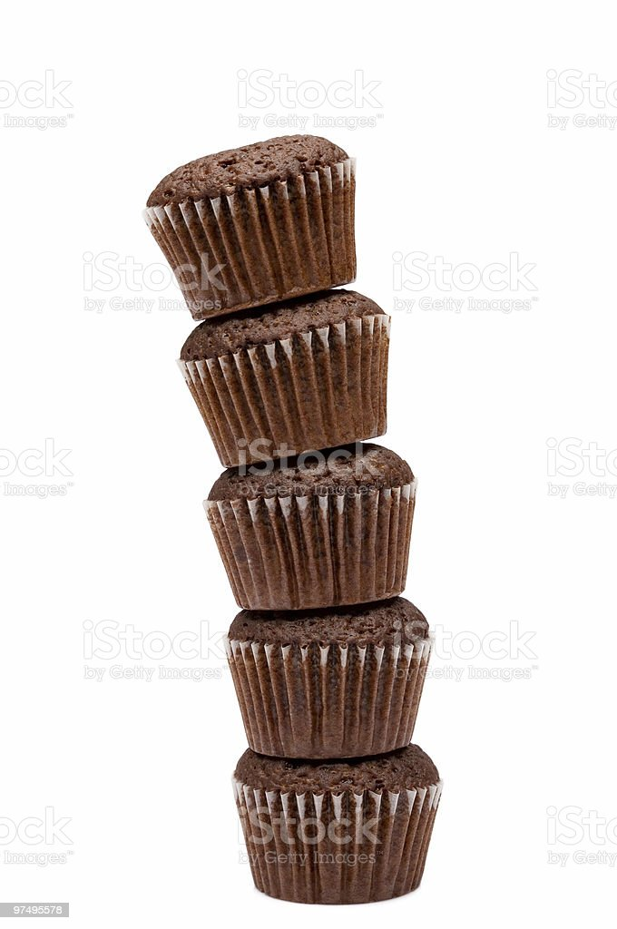 Stack of muffins royalty-free stock photo