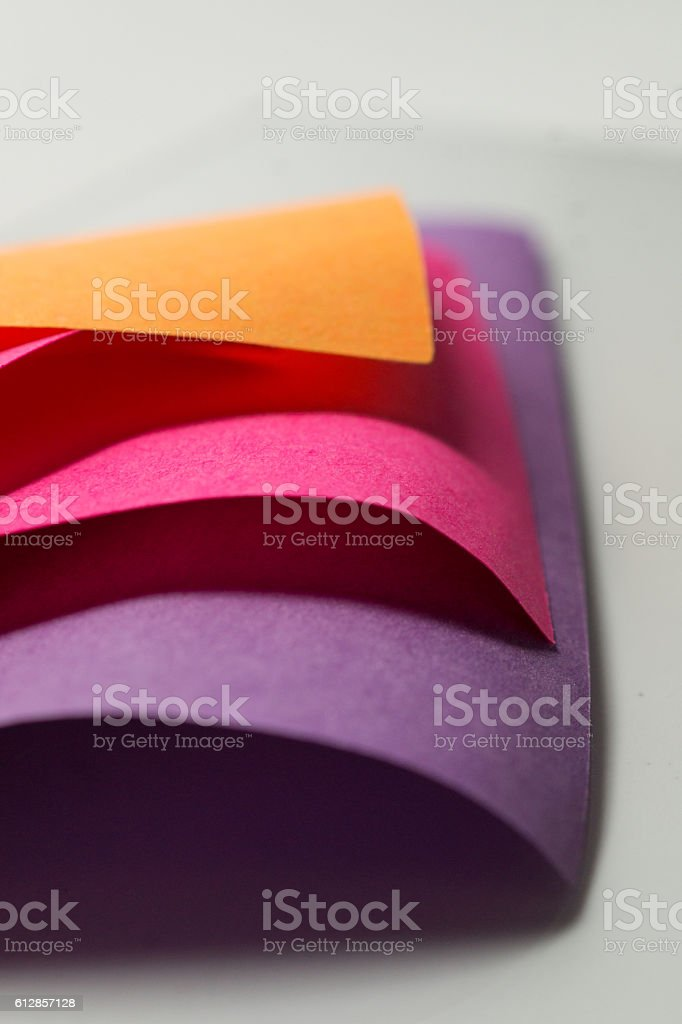 stack of multicolored sticky note papers macro royalty-free stock photo