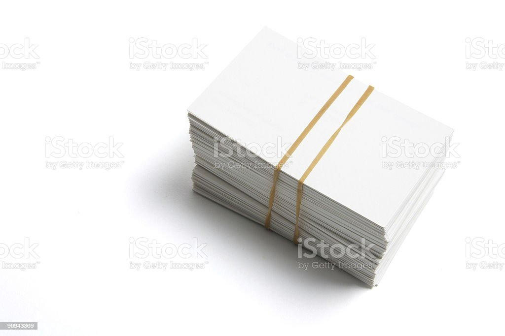 Stack of Name Cards royalty-free stock photo